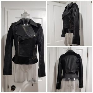 Cote By Improvd Cowhide Leather Motorcycle Jacket